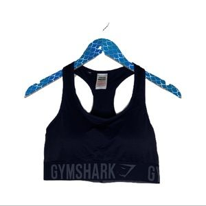 Gymshark Fit Black Racerback Spell Out Sports Bra